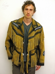 Higgs Leathers ALL SOLD!  Crocket (men's fringed Suede Cowboy jackets)